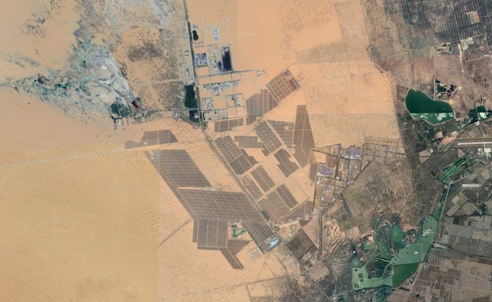 tengger desert solar park clean