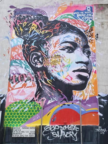 street art slavery henriette