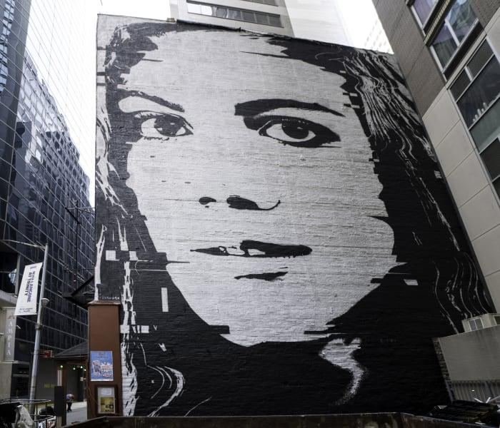 Street art slavery Melanie