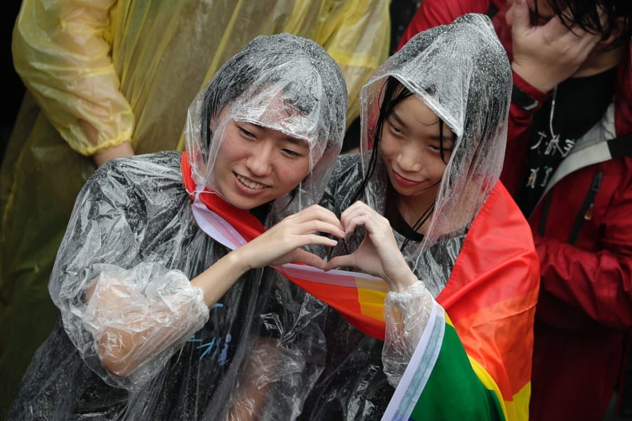 Taiwan gay rights supporters 05