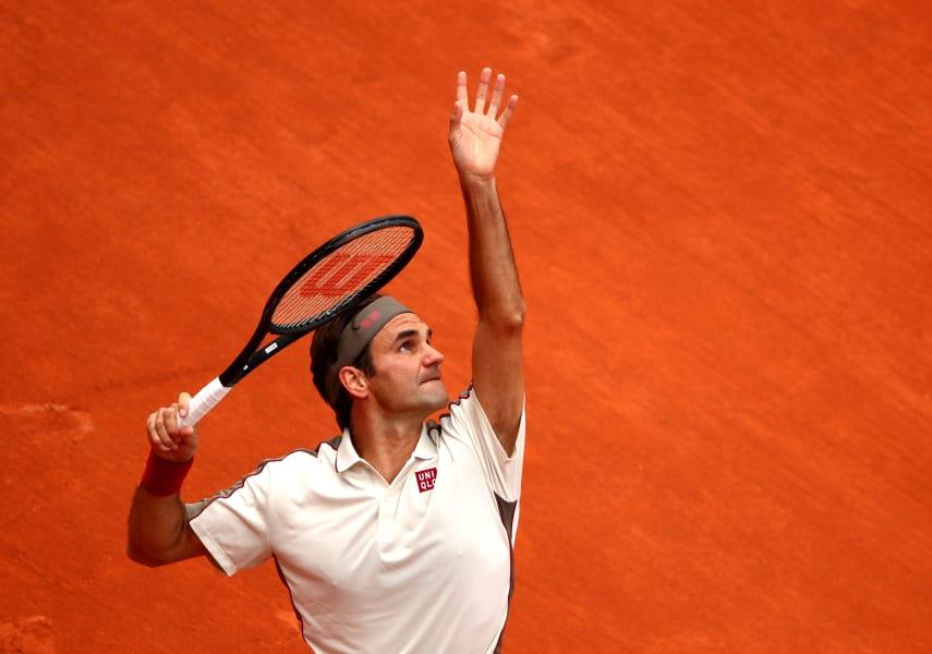 Roger Federer French open PAris Wednesday