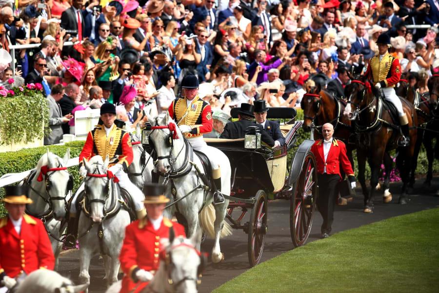 Queen Elizabeth II Royal Ascot carriage