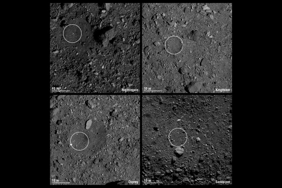 bennu asteroid collection sites 0813