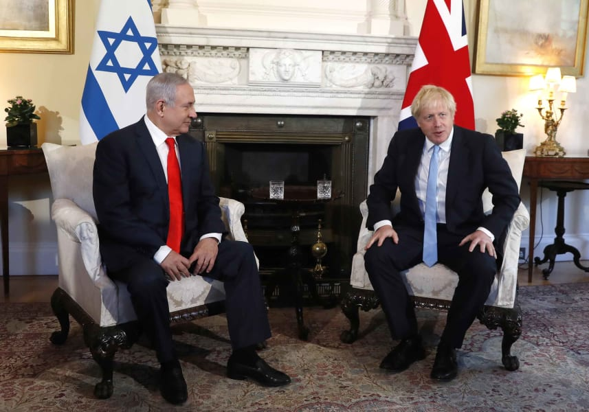 benjamin netanyahu boris johnson 09052019