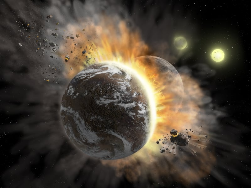 exoplanet collision