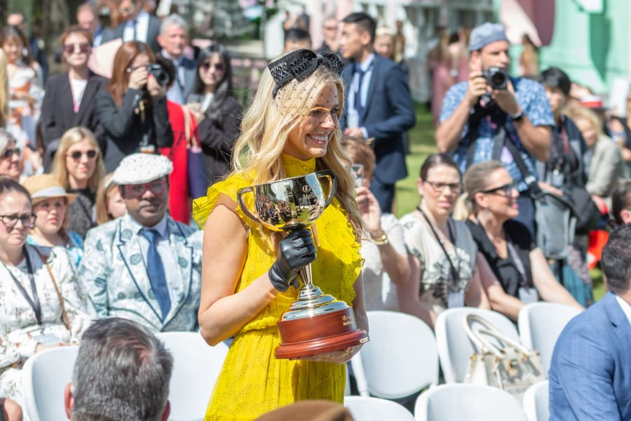 Melbourne Cup Tegan Martin trophy Flemington