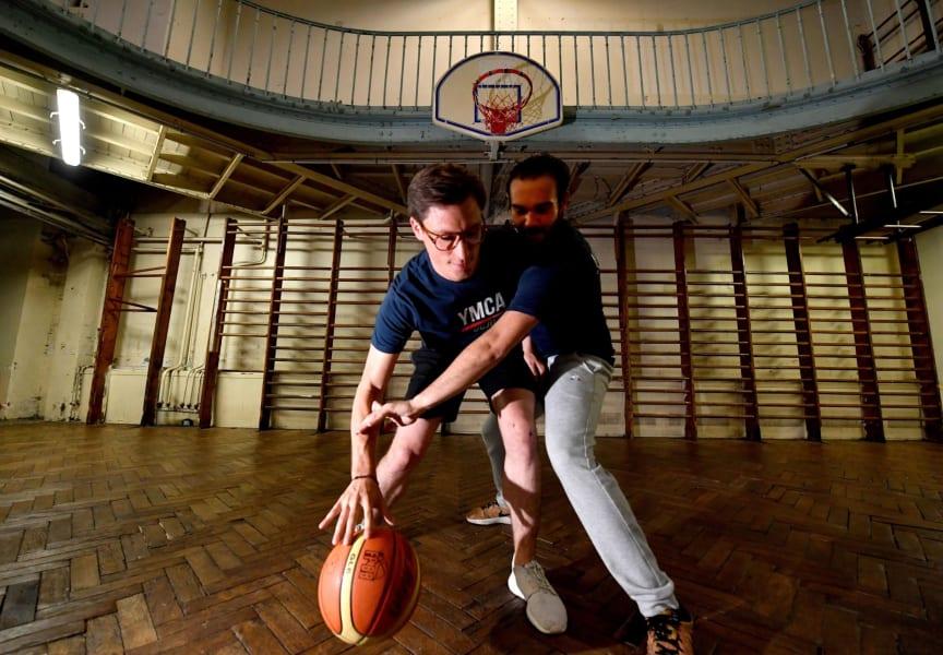 rue de previse ymca basketball court