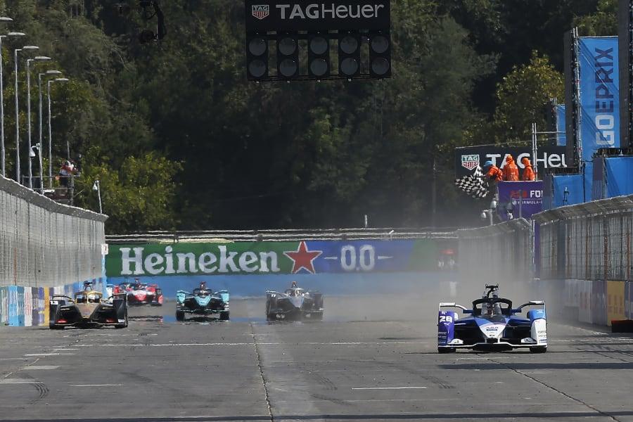 Maximilian Günther Formula E Santiago 2020 finish line