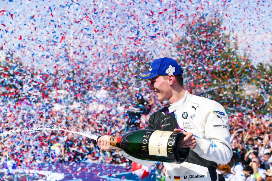 Maximilian Günther Formula E Santiago 2020 celebration