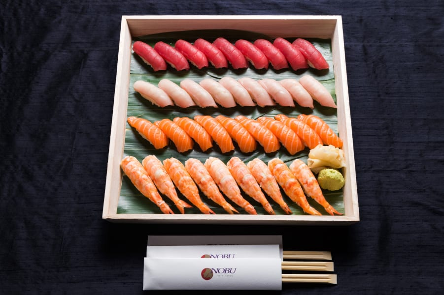 fine dining delivery sushi nobu intl