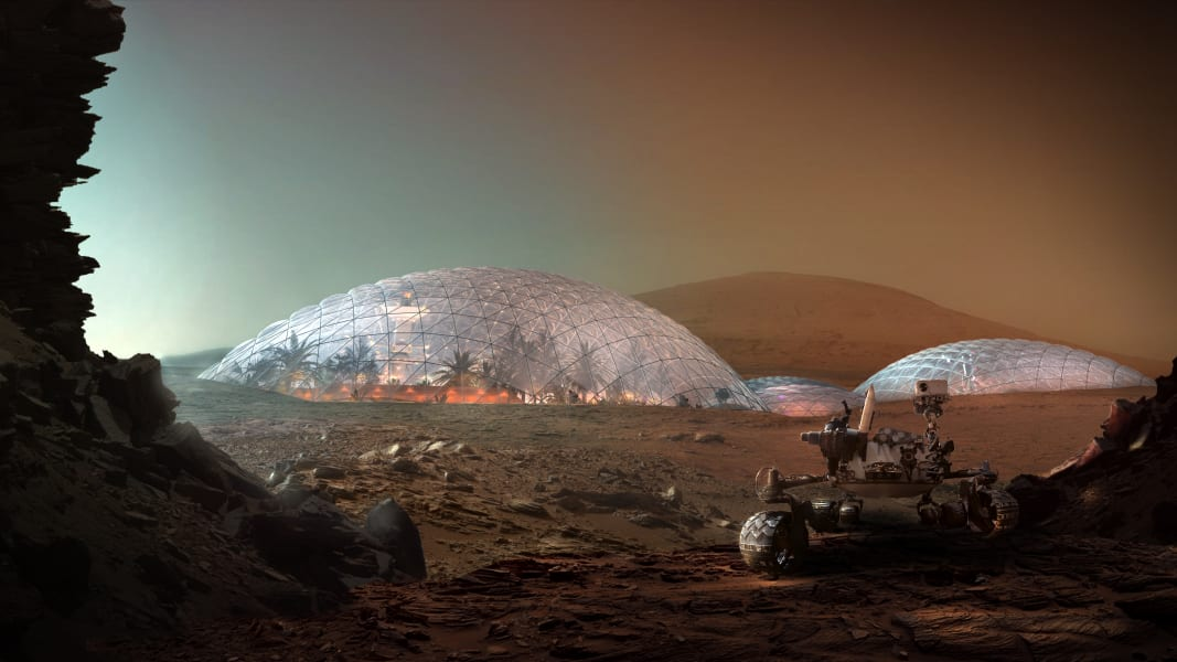 mars science city first phase mars base