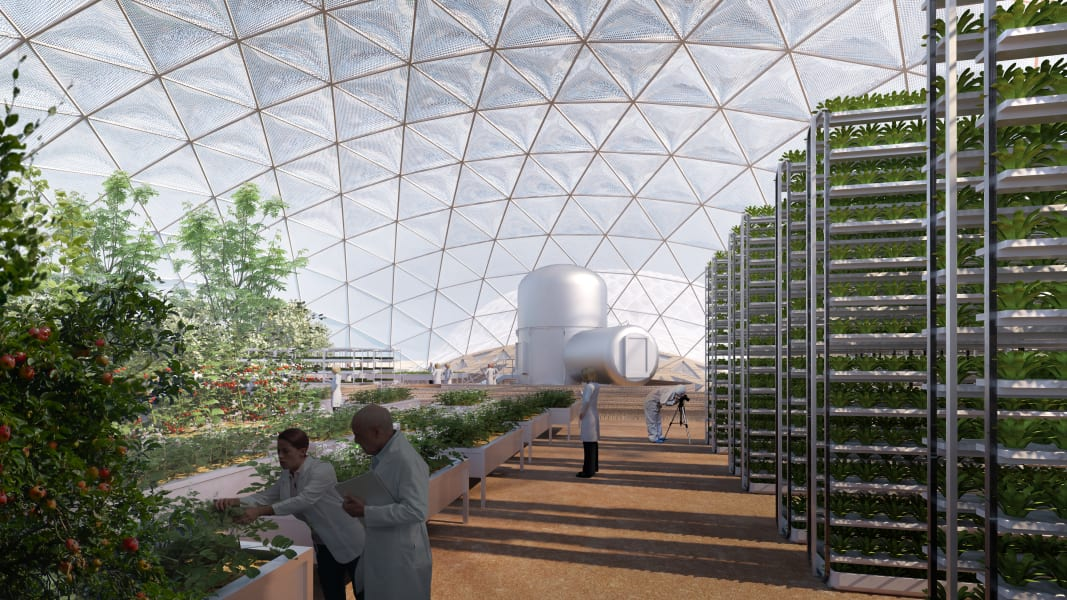 mars science city first phase aquaponics
