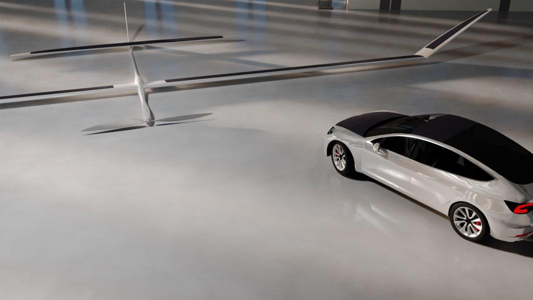 Swift Solar's Car and UAV render