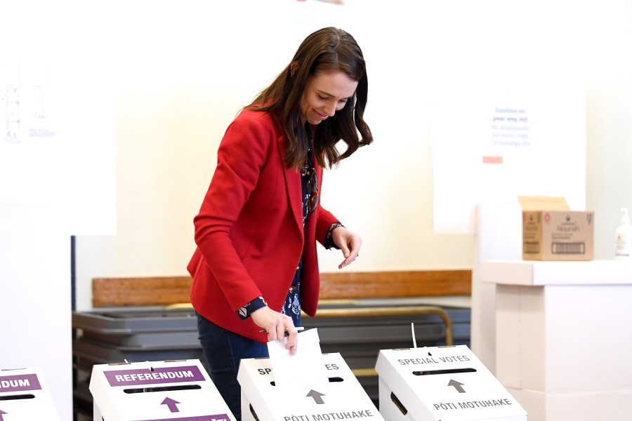 ardern votes 2020