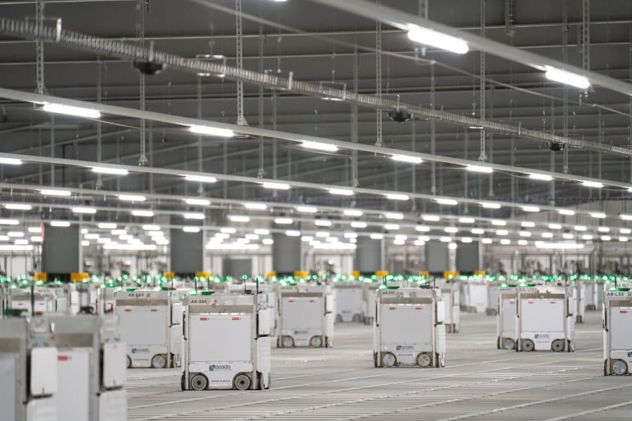 02b ocado supermarket robot warehouse spc intl