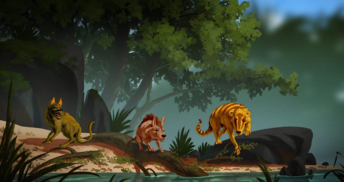 prehistoric mammal discovery illustration