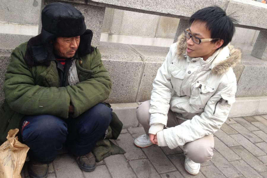 Meet Beijings street sleepers