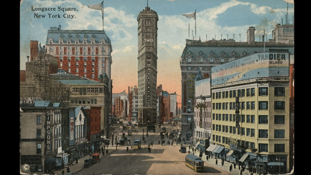 The Knickerbocker Left Opened In 1906 On Times Square This Postcard Uses