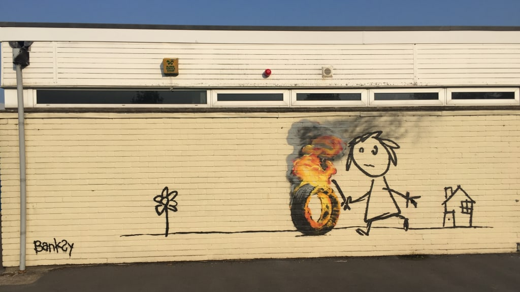 Banksy surprises primary school students with mural - CNN Style