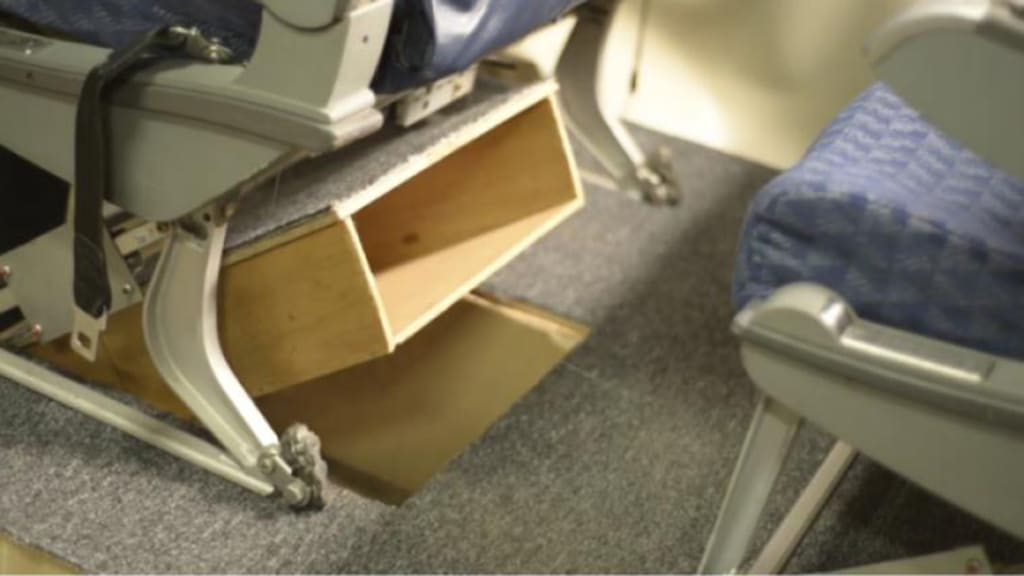 Prototype Airplane Floor Storage Unit