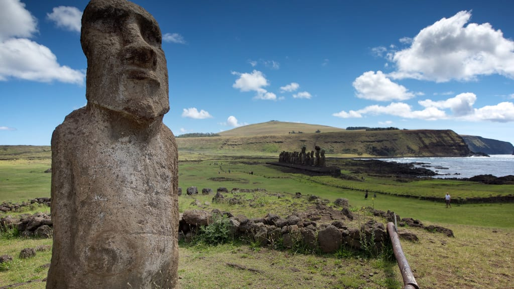 Easter Island Moai Close Up Restricted