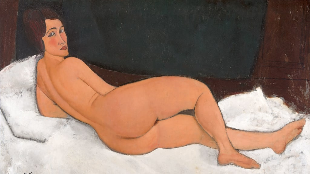 Nude 1917 By Amedeo Modigliani