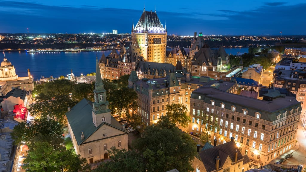 Quebec City Night Frontenac