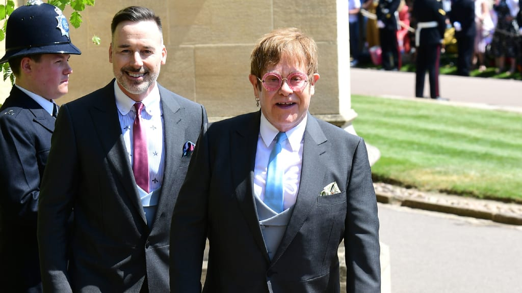 Wedding guest fashion bold and bright at windsor cnn style 17 guest fashion royal wedding elton john junglespirit Image collections