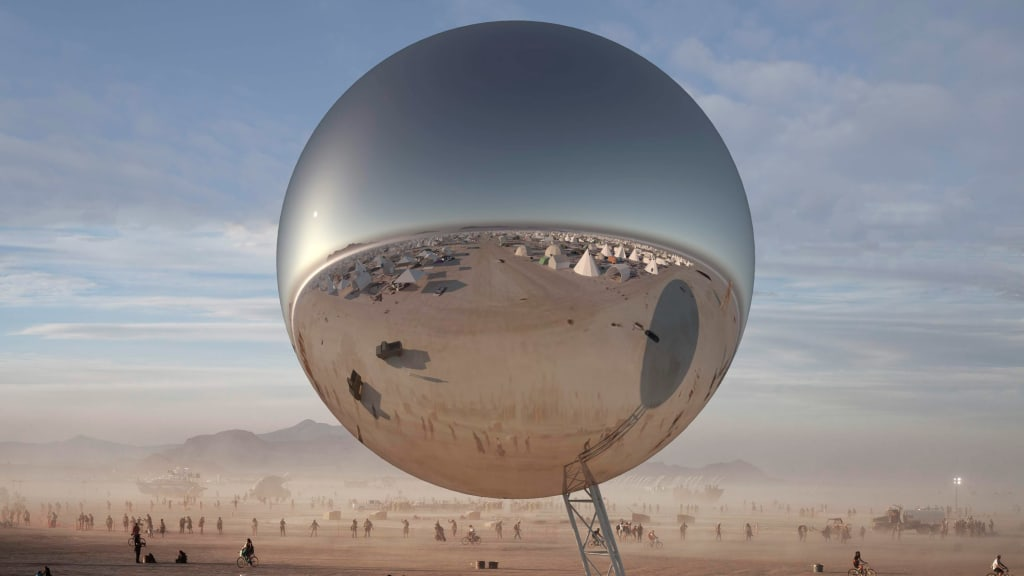 burning man 2018 will feature a 30 ton inflatable disco ball cnn style