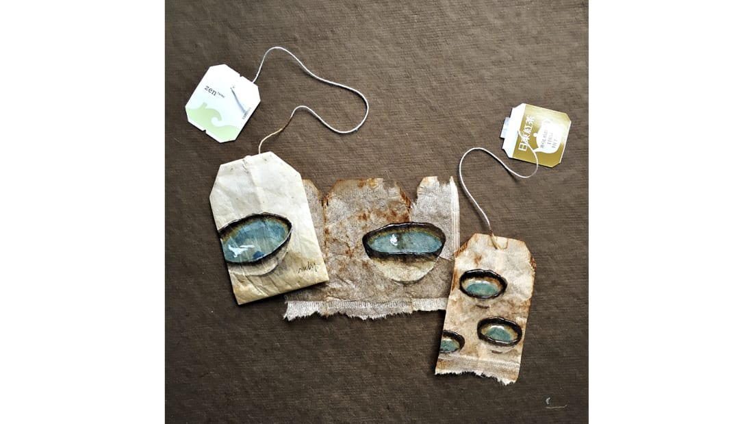 Ruby Silvious -- Tea bag art -- Itoshima Japan 2
