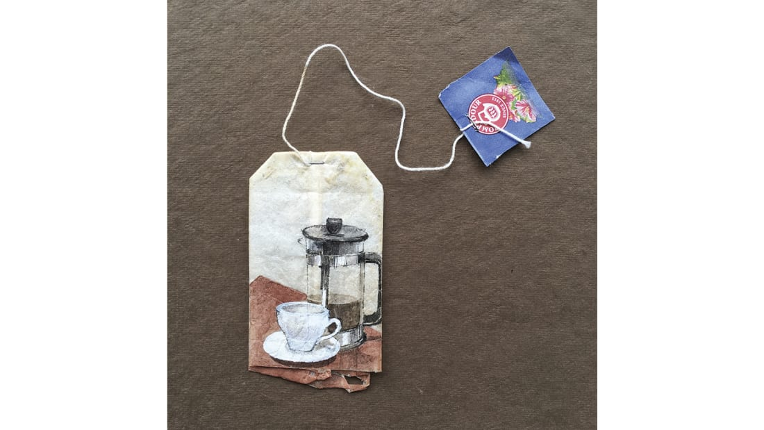 Ruby Silvious -- Tea bag art -- Noepoli Italy 3