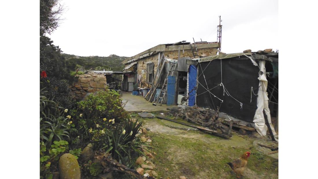 Tempat tinggal Morandi selama di Budelli