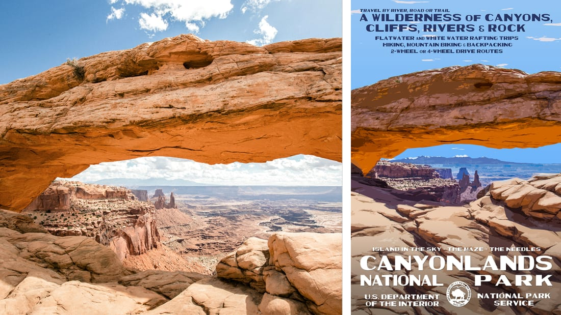 01 national park service posters - Canyonlands