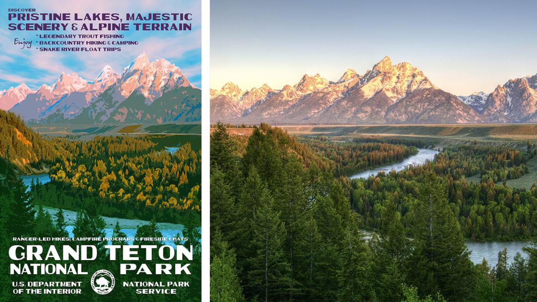 02 national park service posters - Grand Teton