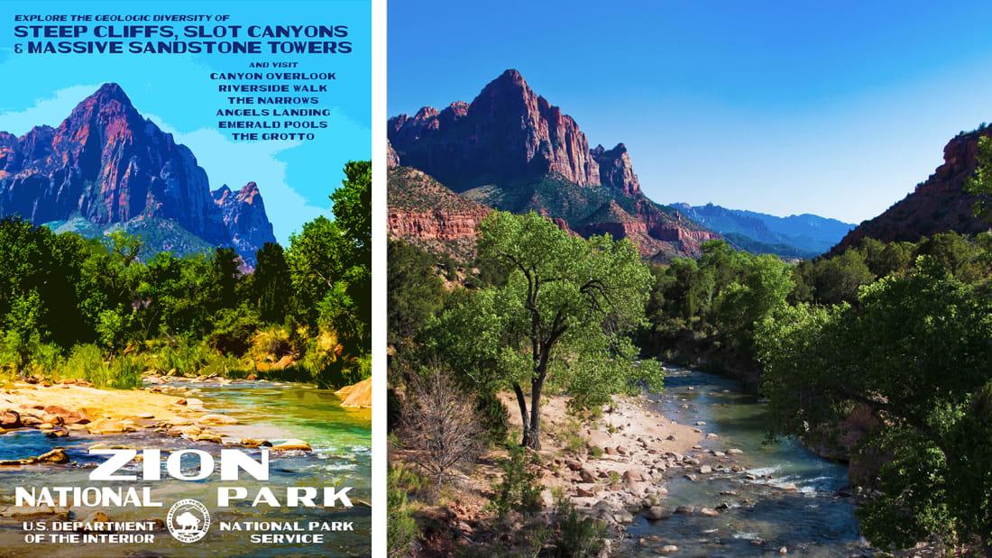 06 national park service posters - Zion