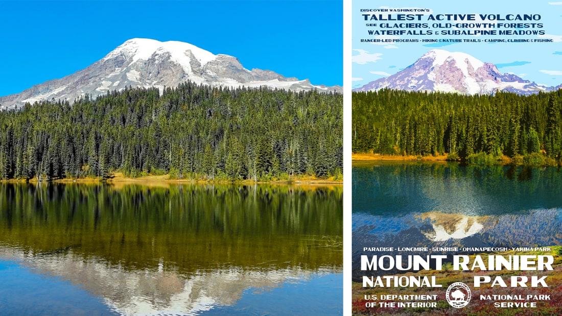 07 national park service posters - Mount Rainier