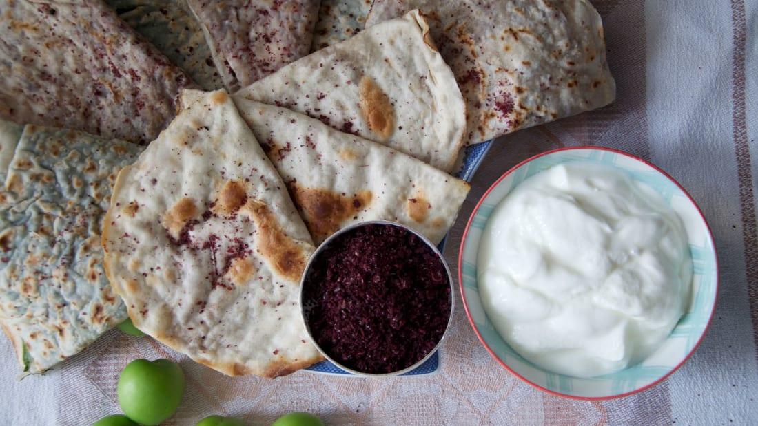 Azerbaijan-food-and-drink---Qutab- Kamilla-Rzayeva