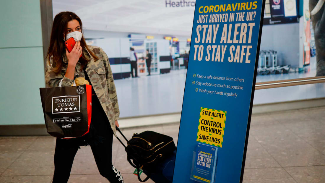 As of June 8, travelers arriving in the UK will be subject to a 14-day quarantine.
