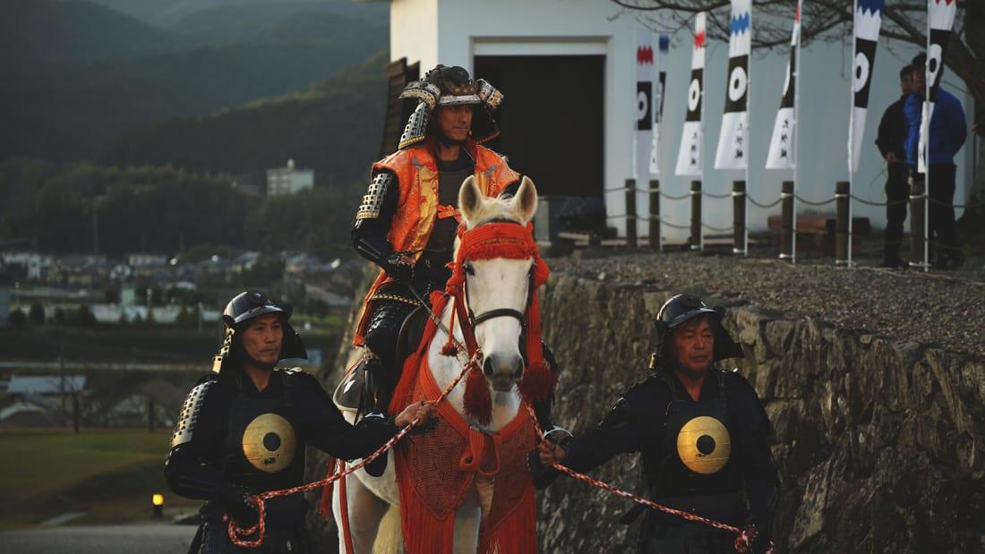 Ozu Castle Town Horse scene 2