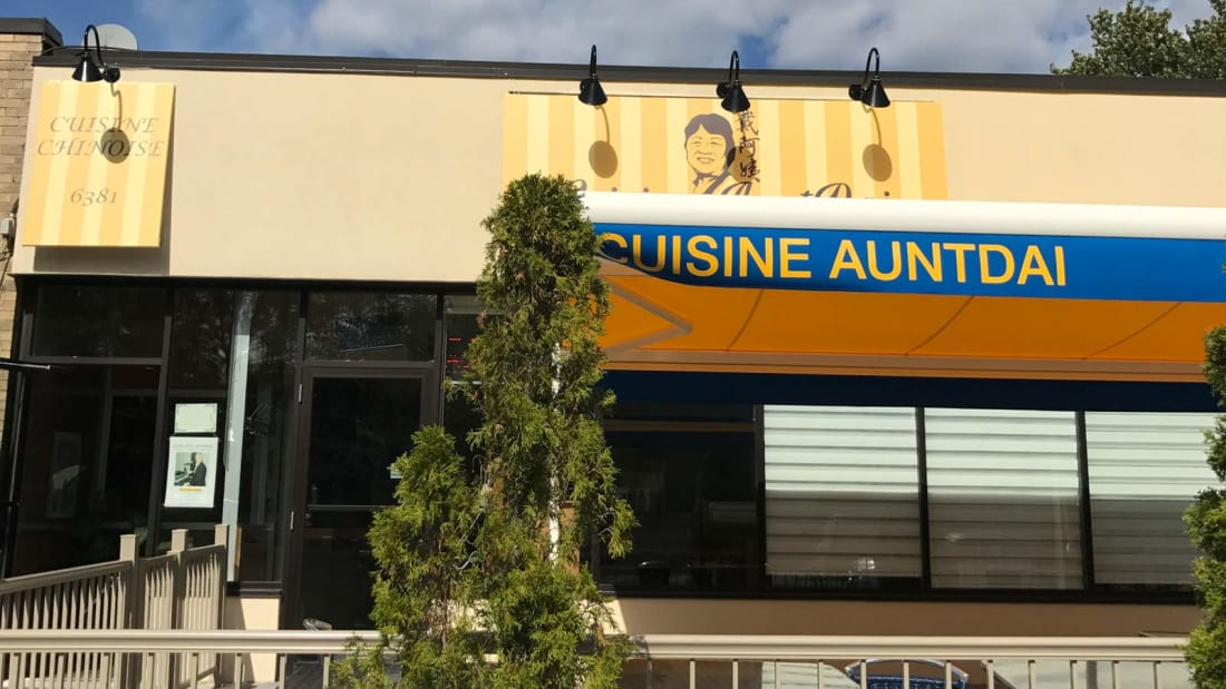 Cuisine AuntDai in Montreal has seen a rise in customers after the owner's honest descriptions of dishes went viral.