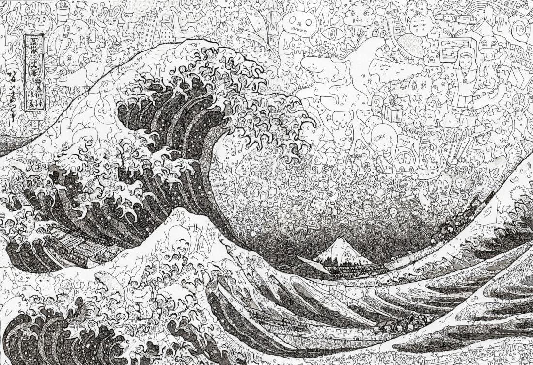 """""""The Great Wave off Kanagawa"""" by Keita Sagaki (2012)"""