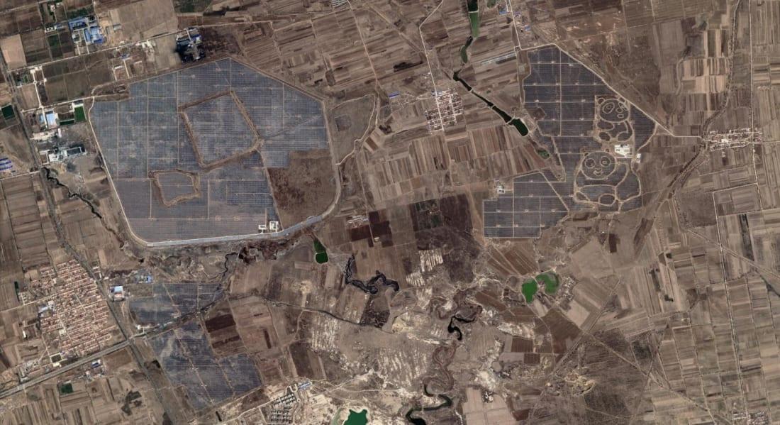 datong solar station google earth