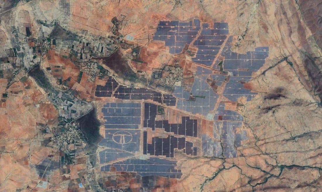 Pavagada Solar Park google earth