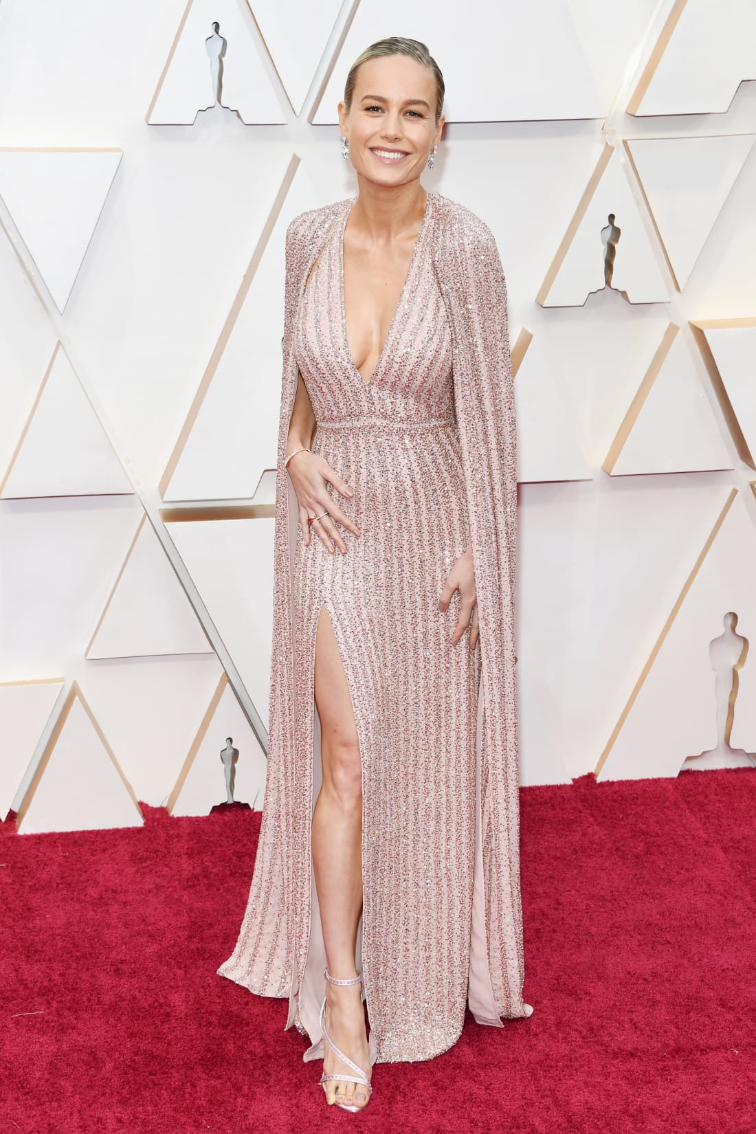 21 fashion oscars 2020 brie larson restricted