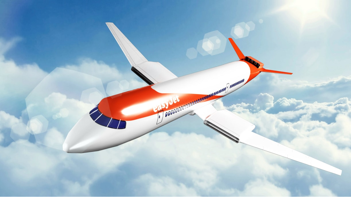 A model of how the future electric plane is expected to look.