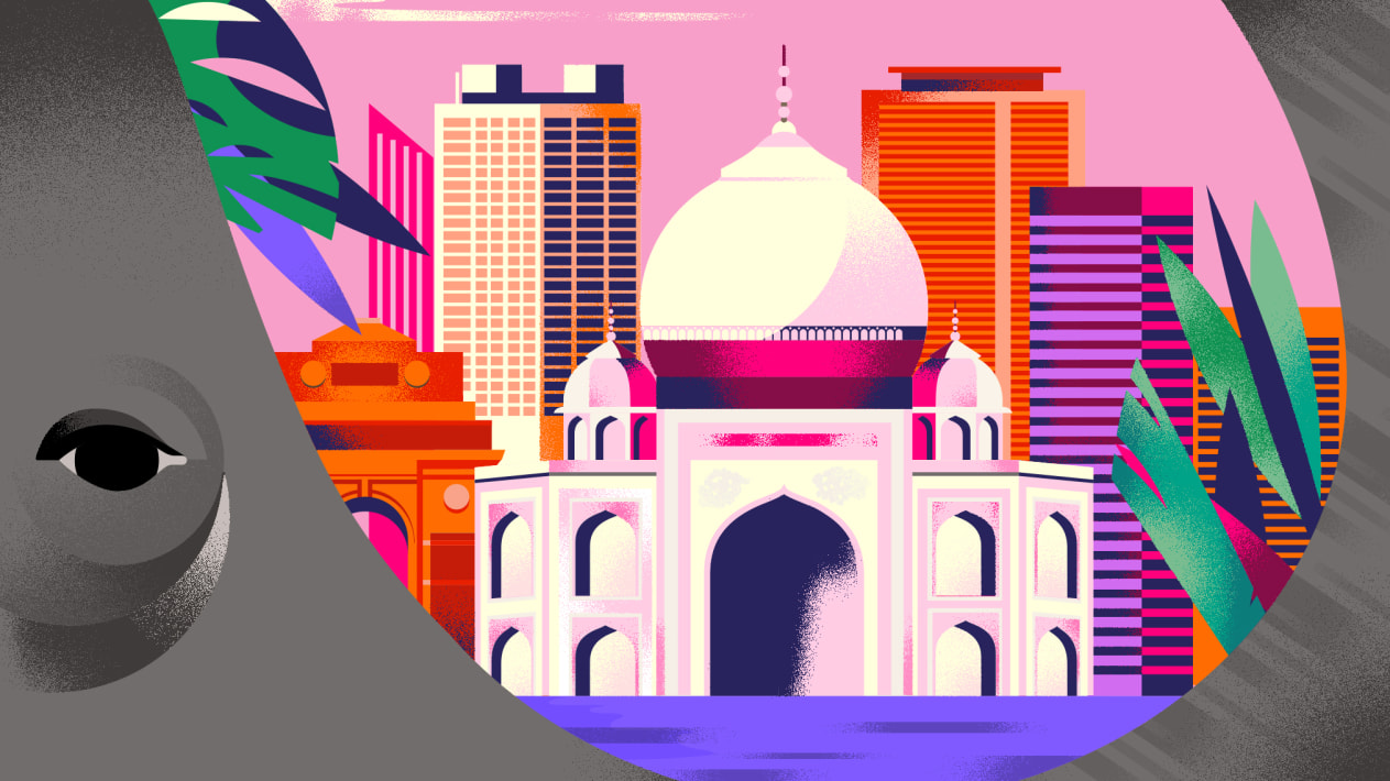 India Travel Destination - illustration