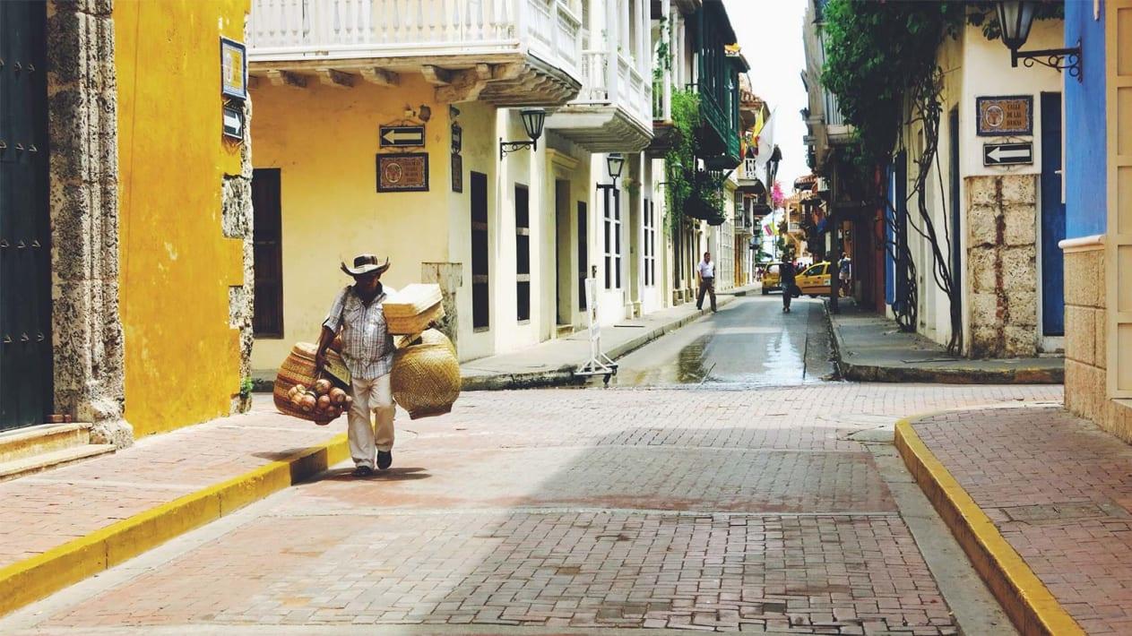 Cartagena street scene, Colombia