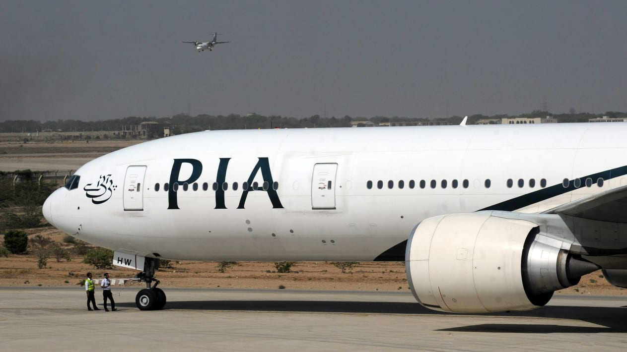 PIA flight 702 was delayed by seven hours due to the incident.
