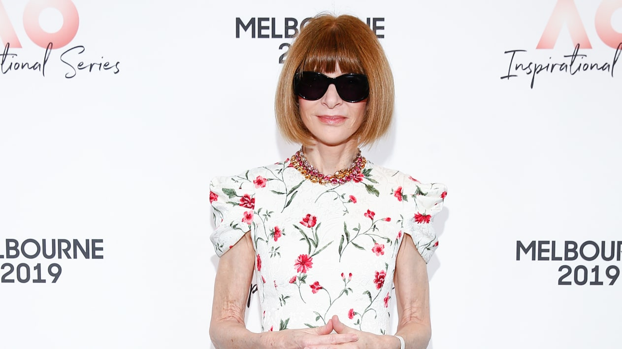 Anna Wintour at the AO Inspirational Series Brunch at The Glasshouse on January 24, 2019 in Melbourne, Australia.