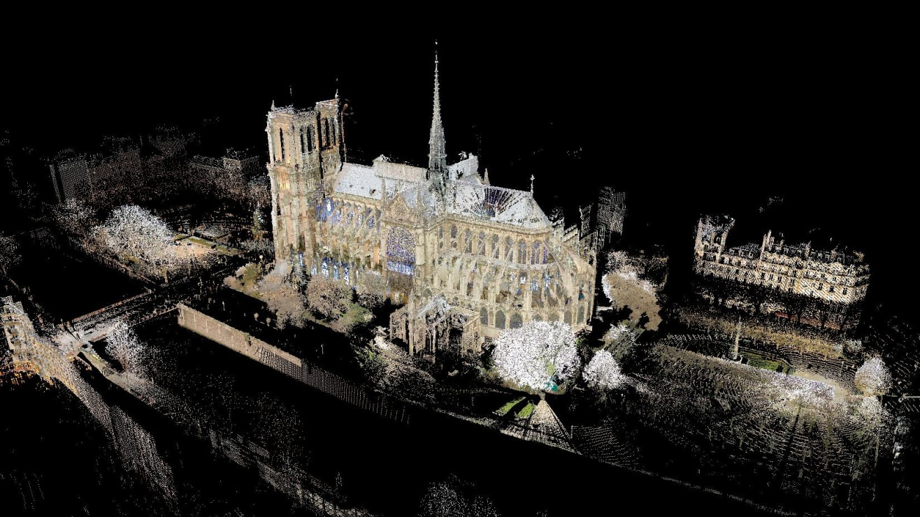 Andrew Tallon created a spatial map of Notre Dame using more than a billion laser-measured points.